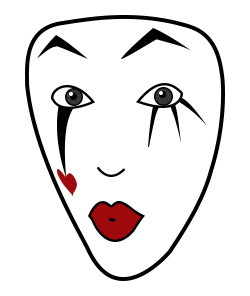 Mime face sketch
